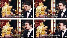 Daniel Radcliffe and Miss Piggy