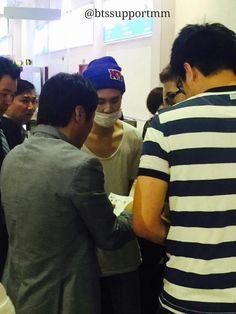 BTS arrived at  Yangon International Airport 150615 for KPOP CONCERT LIVE IN YANGON - MYANMAR