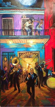 Terrance Osborne - 2014 Jazz Fest Poster - 3rd attempt, unfinished version