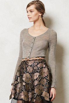 NIP Anthropologie Shimmer Palette Cardigan Knitted & Knotted Sz L  #Anthropologie #Cardigan