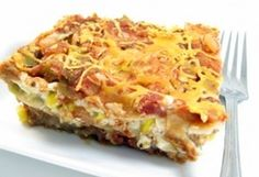 Skinny Lasagna`Ole ... Can reduce the PointsPlus count by using fat free cottage cheese, and perhaps using all salsa, rather than pasta sauce and salsa.  Sounds delish!