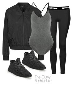 """Untitled #904"" by thecurvyfashionistaa ❤ liked on Polyvore featuring adidas Originals, Topshop and Ivy Park"