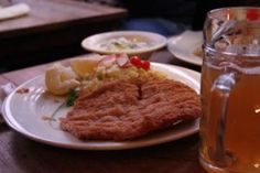 3 - Wiener Schnitzel with sides and wheat beer