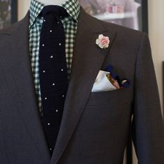 inspiration: suit jacket and knitted tie.