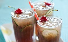 Cherry Cucumber Coolers // A super refreshing summer drink! #summer #cocktail #recipe