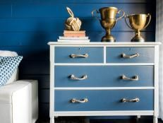 Blue paint and sisal