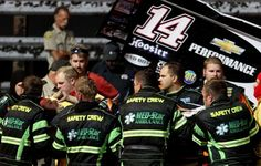 In this Aug. 5, 2013 photo, three-time NASCAR champion Tony Stewart, third from left, is loaded into an ambulance after being involved in a four-car wreck at Southern Iowa Speedway in Oskaloosa, Iowa. A spokesman for Stewart said the 42-year-old driver broke his right tibia and fibula and had surgery after he was transported to a local hospital. Photo: The Des Moines Register, Mary Willie