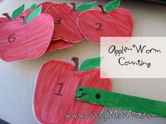Apple and Worm Counting {and Blog Hop!} | Loving My NestLoving My Nest