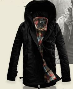 2016 NEW Parka Mens Military Trench Coat Ski Jacket Hooded Thick Cotton Winter