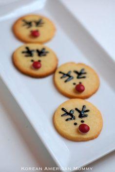 Korean American Mommy: Rudolph Cream Cheese Sugar Cookies