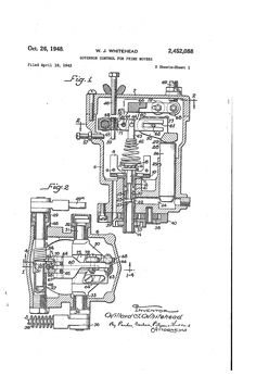Woodward Governor Company's patent for the type SG governor control system.
