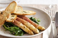 Gebakken asperges in ham - Foodies