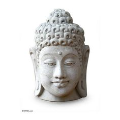 NOVICA Sandstone Sculpture from Indonesia ($30) ❤ liked on Polyvore featuring home, outdoors, outdoor decor, fillers, garden decor, grey, homedecor, outdoor living, novica and outdoor patio decor