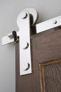 Sun Valley Bronze Barn Door Track with wheel. Shown in WP Finish . Photo by Frederick Charles. Door Knobs, Door Handles, Sun Valley Bronze, Freestanding Tub Filler, Barn Door Track, Contemporary Cabinets, Window Hardware, Door Sets, Lavatory Faucet
