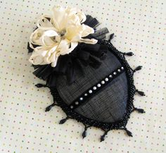 Black Tie Cocktail Hat by GlampireDesign on Etsy