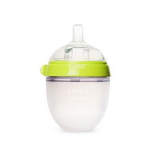 Comotomo baby bottles are designed to most closely mimic breastfeeding to reduce bottle rejection and nipple confusion issues Ultra wide-neck design allows easy cleaning by hand without a brush Safe in microwave, boiling water, dishwashers and sterilizers Nipple and body is made of 100% safe hygienic medical grade silicone Dual anti-colic vents prevent unwanted air-intake and reduce colic