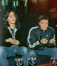 Johnny Depp and Robert Downey Jr. at The Viper Room in Los Angeles, California. 1993.