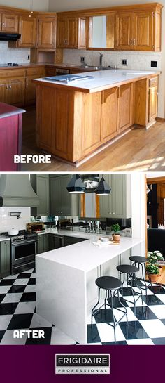 What a transformation! Click to see more from @themakerista's recent kitchen renovation and her new, inspired space featuring appliances from our Frigidaire Professional collection.