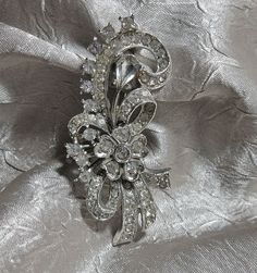 Vintage Victorian Rhinestone Brooch by TheEclecticDiva on Etsy, $38.00