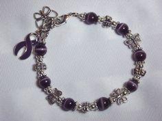 Purple awareness butterfly bracelet!