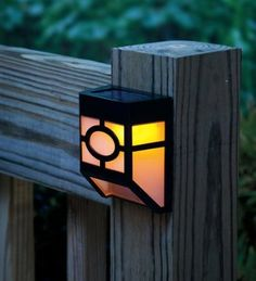 2-LED Mission-Style Solar Deck Accent Lights