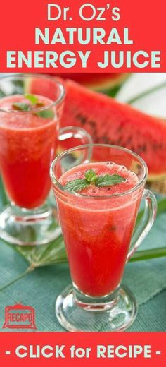 Dr. Oz loves this simple red juice that's delicious and healthy! Get your fruit and veggies from this smoothie. http://www.recapo.com/dr-oz/dr-oz-recipes/red-juice-health-benefits-delicious-dr-oz-red-juice-recipe/