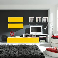 Meine Farben, Nur Würde Ich Eine Gelbe Wandfarbe Und Eine Graue Wohnwand  Bevorzugen