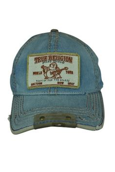 Amazon.com  True Religion Chambray Dark Indigo Cap Hat Size  O S  Clothing c36a26fba1bf