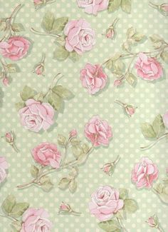 Shabby chic green polka dots and pink roses shower curtain Print Wallpaper, Fabric Wallpaper, Wallpaper Backgrounds, Flower Wallpaper, Wallpapers Kawaii, Shabby Chic Green, Paper Art, Paper Crafts, Motif Floral