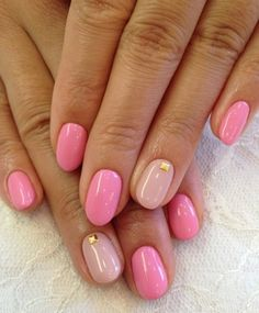 Don't worry if you are a beginner and have no idea about the nail designs. These pink nail art designs for beginners will help you get ready for your date Pink Gel Nails, Pink Nail Art, Love Nails, My Nails, Hair And Nails, Acrylic Nails, Dark Pink Nails, Beige Nails, Pink Art
