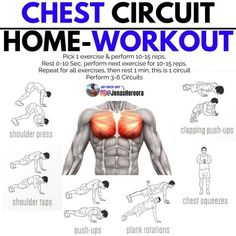 Chest Workout For Men, Chest Workout Routine, Home Workout Men, Abs Workout Routines, At Home Workout Plan, At Home Workouts, Home Chest Workout, Exercise For Chest, Exercise At Home