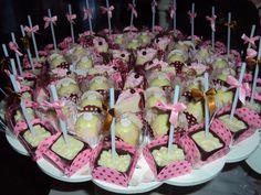festa em marrom e rosa