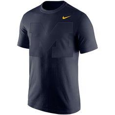 Men's Nike Navy Michigan Wolverines Gradient Modern Sport T-Shirt, Size: Small, Blue Sports Team Apparel, Michigan Wolverines, Sport T Shirt, Tshirts Online, Nike Men, Navy, Modern, Mens Tops, Shopping