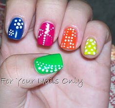 Cool nail designs. My daughter would love these!!