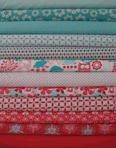 Red and turquoise fabric