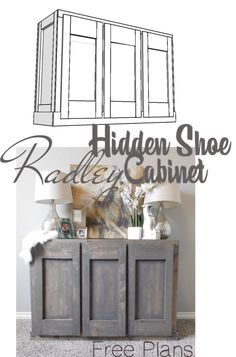 How to Build a Hidden Shoe Cabinet | Free Plans via Handmade Haven | DIY Mother's Day Gift Idea