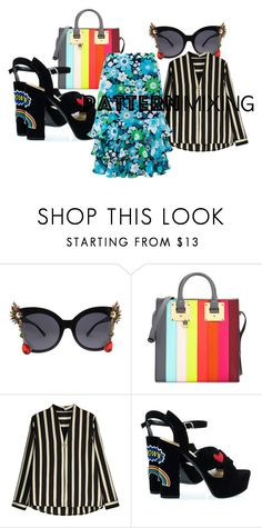 """strips and flowers"" by beatrice-ballarini on Polyvore featuring moda, Sophie Hulme e Michael Kors"