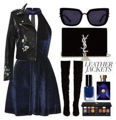 """Unbenannt #254"" by itsjana ❤ liked on Polyvore featuring Oh My Love, WearAll, Christian Louboutin, Bobbi Brown Cosmetics, Versace, Anastasia Beverly Hills, Yves Saint Laurent, Kendall + Kylie and leatherjackets"