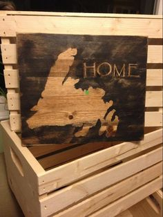 Looking for paper crafts project inspiration? Check out Newfoundland Wood Project by member Diy Wood Signs, Painted Wood Signs, Wood Pallet Signs, Wood Pallets, Crafty Projects, Wood Projects, Wooden Crafts, Paper Crafts, Newfoundland Canada