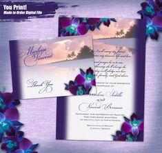 Royal Blue And Purple Wedding Invitations wedding Pinterest