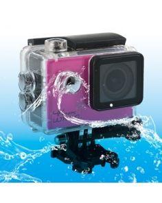 SJ8000 WiFi Novatek 96660 Ultra HD 4K 2.0 inch LCD Sports Camcorder with Waterproof Case, 170 Degrees Wide Angle Lens, 30m Waterproof(Magenta)