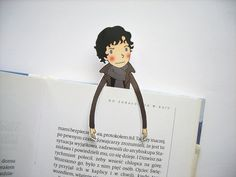 Sherlock bookmark - Benedict Cumberbatch I Am Sherlocked BBC Sherlock unique bookmark big nerd wolf handmade gift