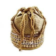 indian wedding potli bags Potli Bags, Fabric Beads, Brocade Fabric, Beaded Purses, Evening Party, Bucket Bag, Straw Bag, Wedding Bags, Dream Wedding