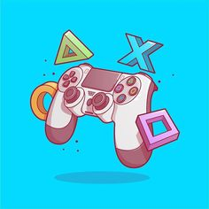Controller Game on! Whats everyones favorite video game? Mine is def - Video Games - Ideas of Video Games - Controller Game on! Whats everyones favorite video game? Mine is definitely Grand Theft Auto! Video Game Art, Video Games, Gaming Wallpapers, Ps4 Controller, Ps4 Games, Grand Theft Auto, Games To Play, Geek Stuff, Cartoon