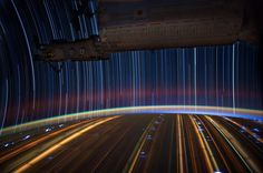 ISS beautiful long exposure photo from space