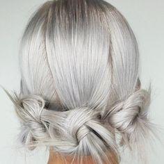 nice Модные серые волосы (50 фото) — Как подобрать оттенок под цвет глаз Читай больше http://avrorra.com/serye-volosy-cvet-foto/