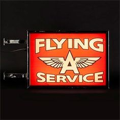 'Flying A Service' Illuminating Sign - The Hoarde