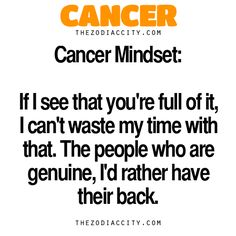 If I see that you're full of it, I can't waste my time with that. The people who are genuine, I'd rather have their back
