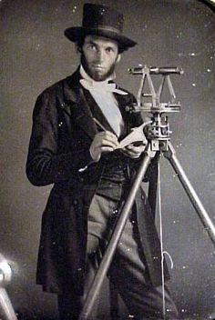 Abraham Lincoln, land surveyor?  Sure looks like it could be.