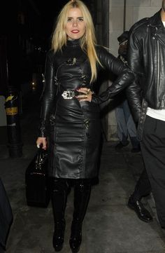 Petition to OUST Paloma Faith from Rugby World Cup coverage 70s Fashion, Star Fashion, Look Fashion, Womens Fashion, Black Leather Dresses, Leather Skirt, Best Leather Jackets, Leder Outfits, Latex Dress